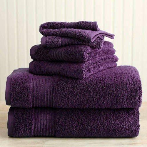 Eggplant Solid Color Towel Set 30 X 54 Inches Bath Products