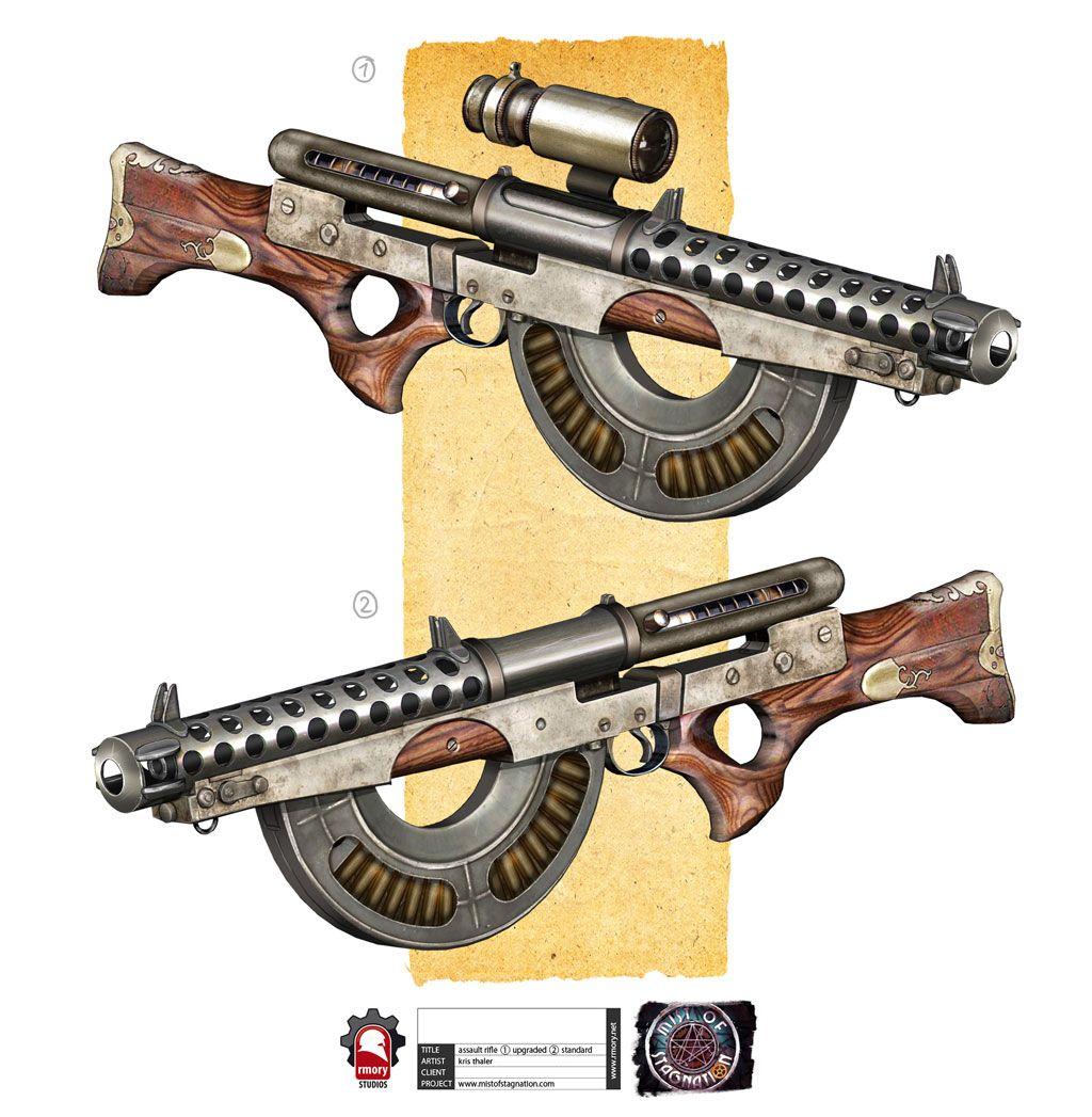 Arme Prototype steampunk tommygun   arme, équipement est prototype airsoft (réel