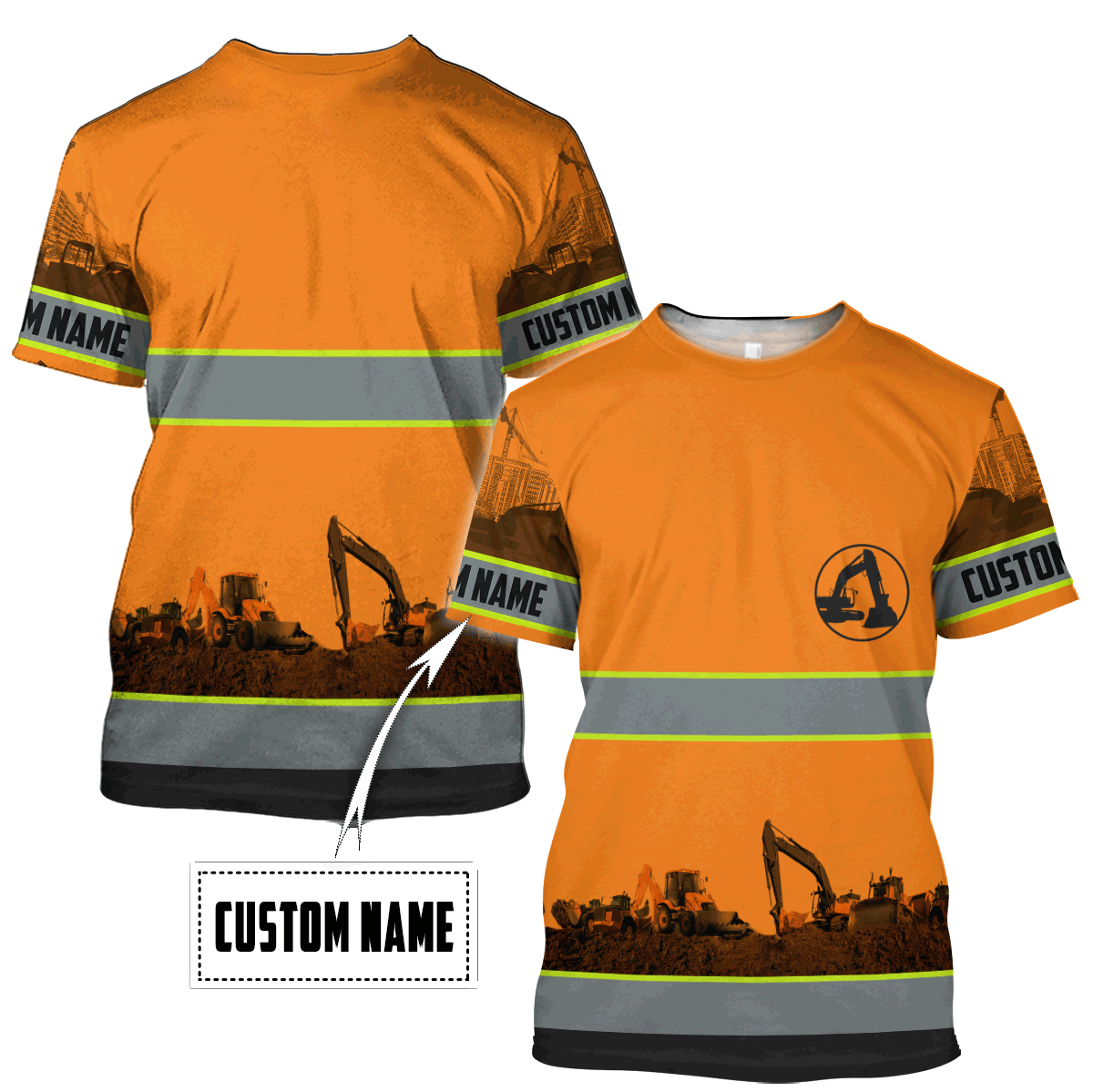 Personalized Excavator 3D All Over Printed Unisex Shirts - T-Shirts / XL