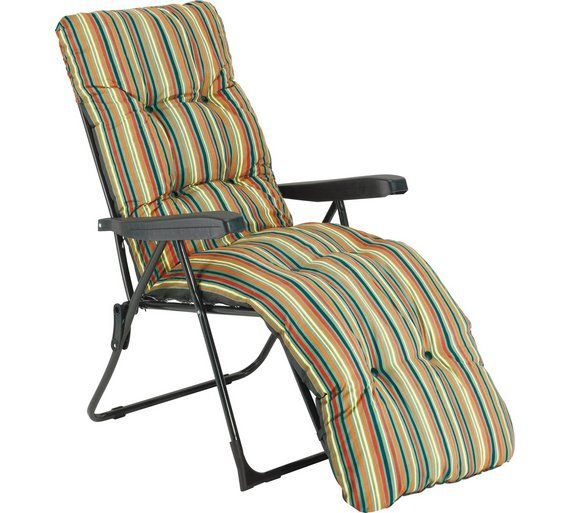 cheap sun lounge chairs maccabee double folding buy striped foldable multi position lounger with cushion at argos co uk your online shop for garden and loungers furniture