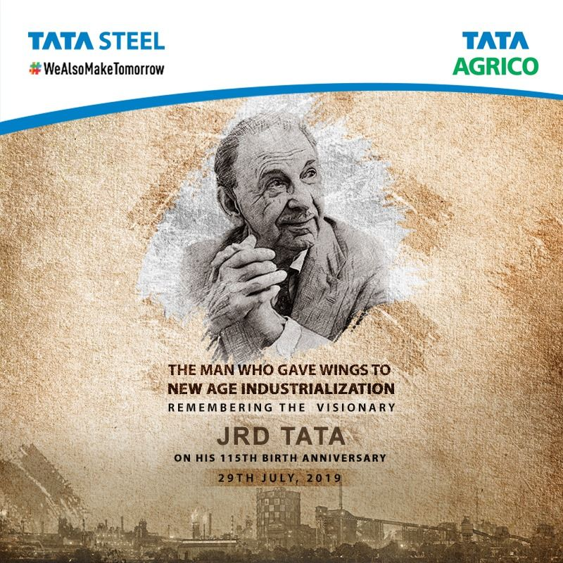 Always Aim At Perfection For Only Then Will You Achieve Excellence Jrd Tata On The 115th Birth Anniversary Of One Of T Tata Visionary Business Entrepreneur