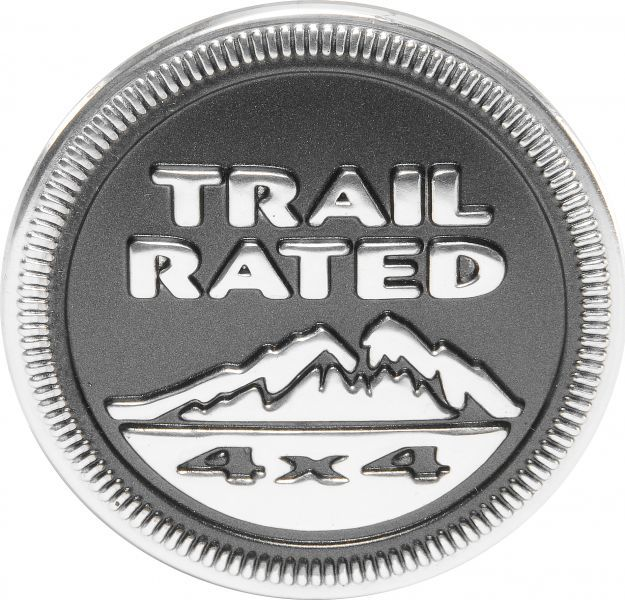 Mopar 55157318ab Trail Rated 4x4 Badge In Dark Gray For 05 15
