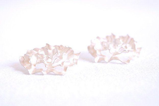 Roses earrings,Fairmined silver earrings,Fairmined white silver.White roses,Silver custom earrings,Fair trade silver,Roses,Ethereal roses. by EmilieBliguetJewelry on Etsy
