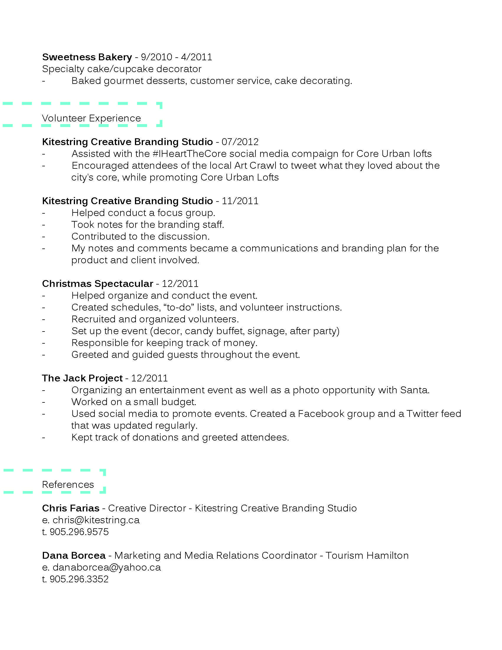 Resume Volunteer Kristen Coppolinovolunteer Resume Business Letter