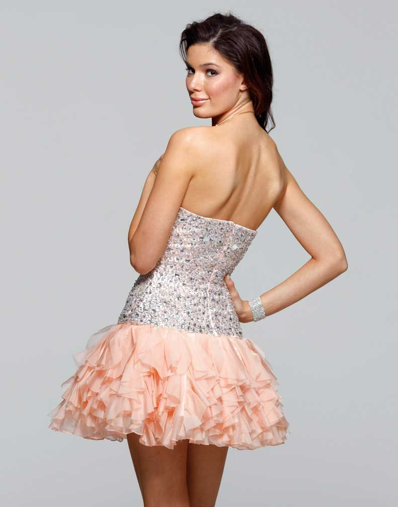 Clarisse 2012 Crystal Dress 2015 | Peach shorts, Homecoming dresses ...
