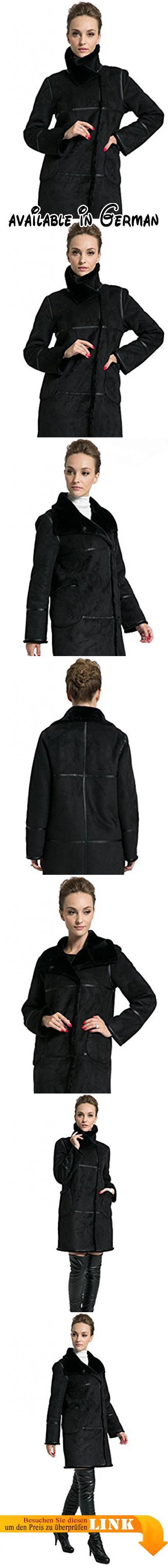 Veloursleder mantel schwarz