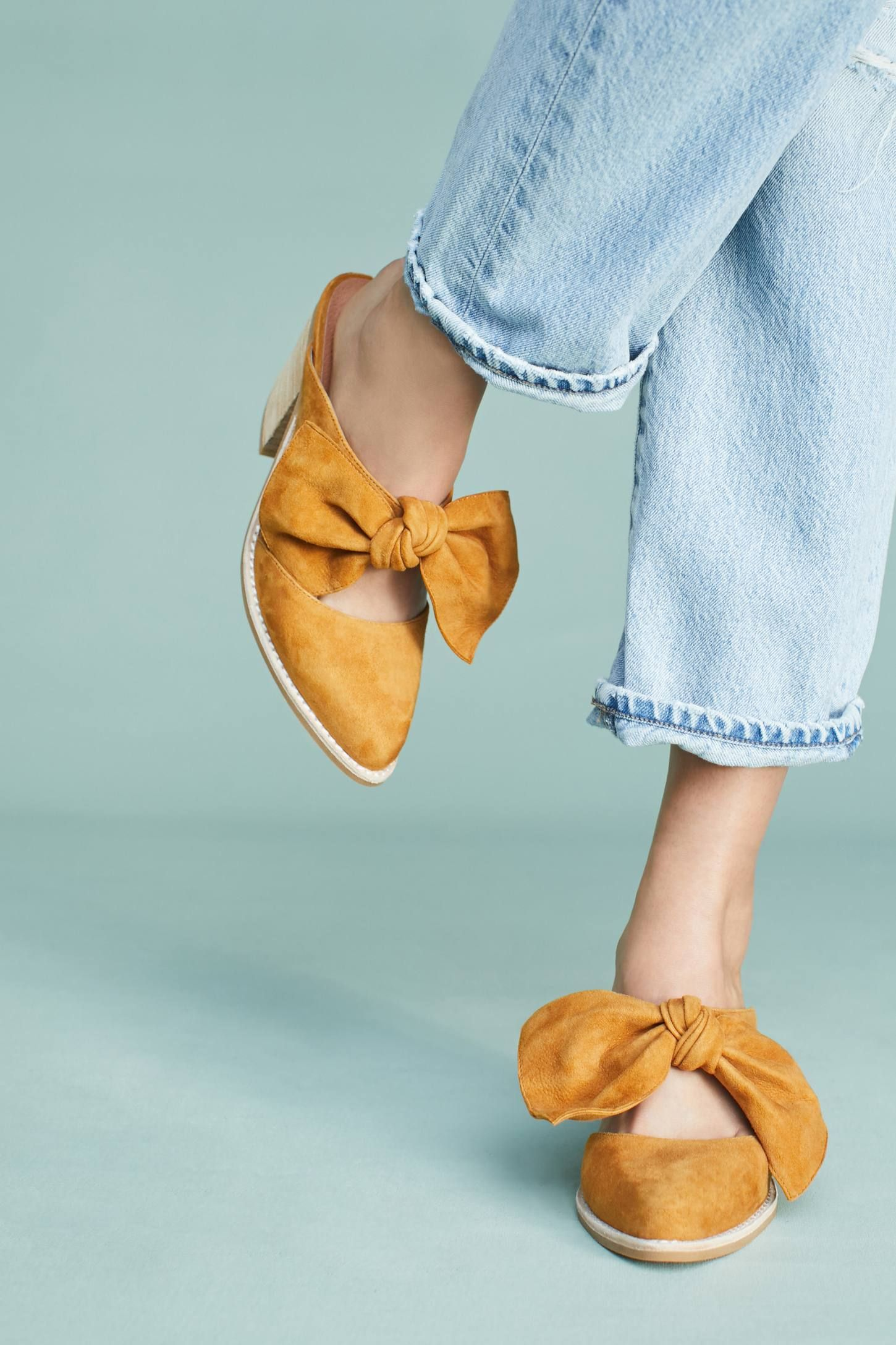 a61495521 Shop the Jeffrey Campbell Cyrus Bow Mules and more Anthropologie at  Anthropologie today. Read customer reviews