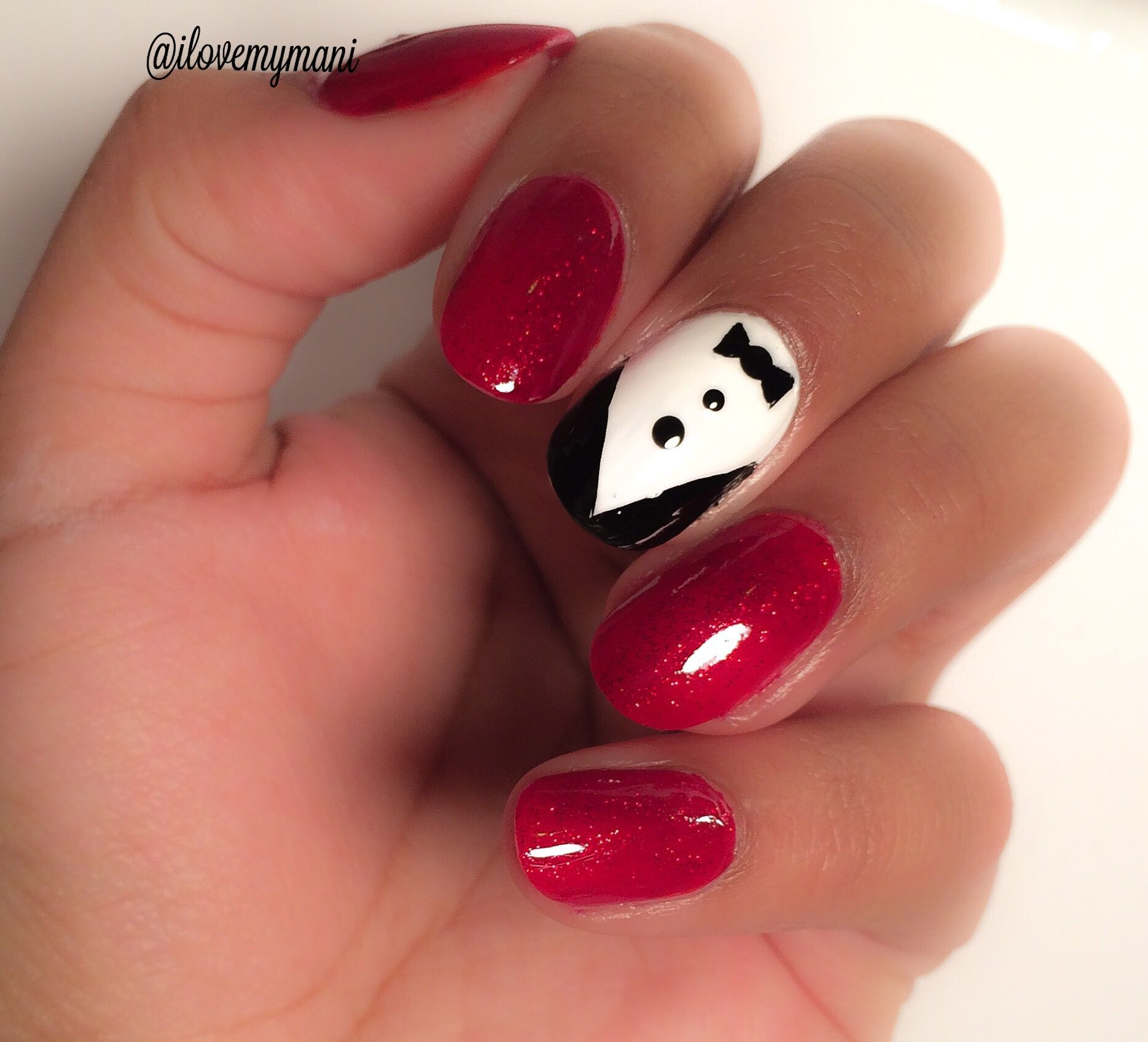 Simple, easy Christmas party inspired nail art using Rimmel London ...