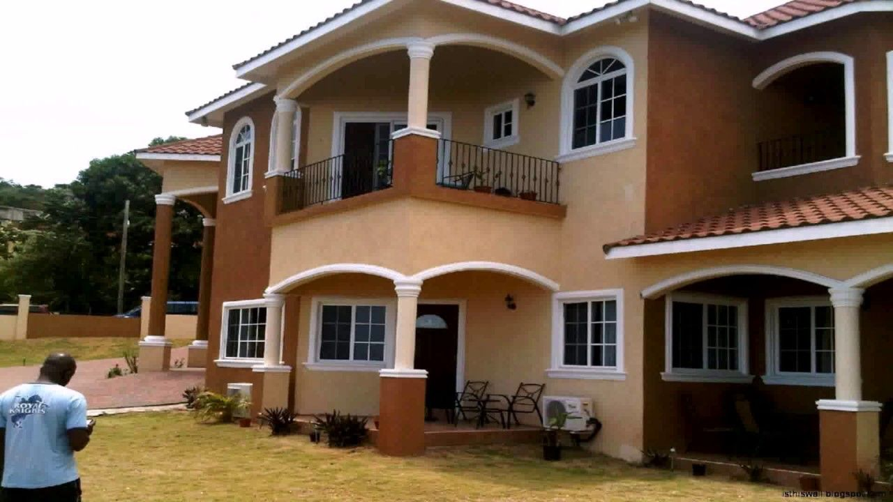 Most Beautiful Homes In Jamaica Have An Applitex Touch To Them In 2021 Jamaica House House Design House Design Pictures