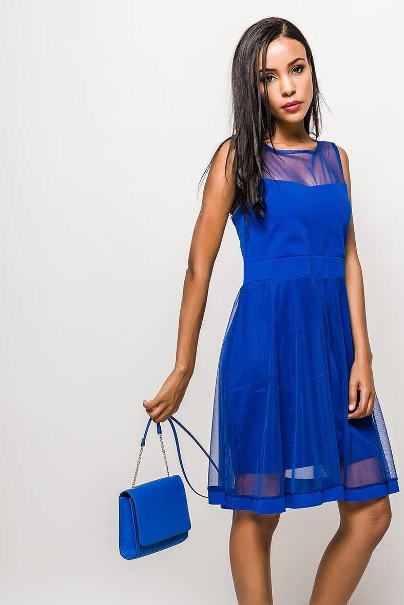 72332ef231988 Krátke modré spoločenské šaty bez rukávov - Rouzit.sk | Rouzit ...