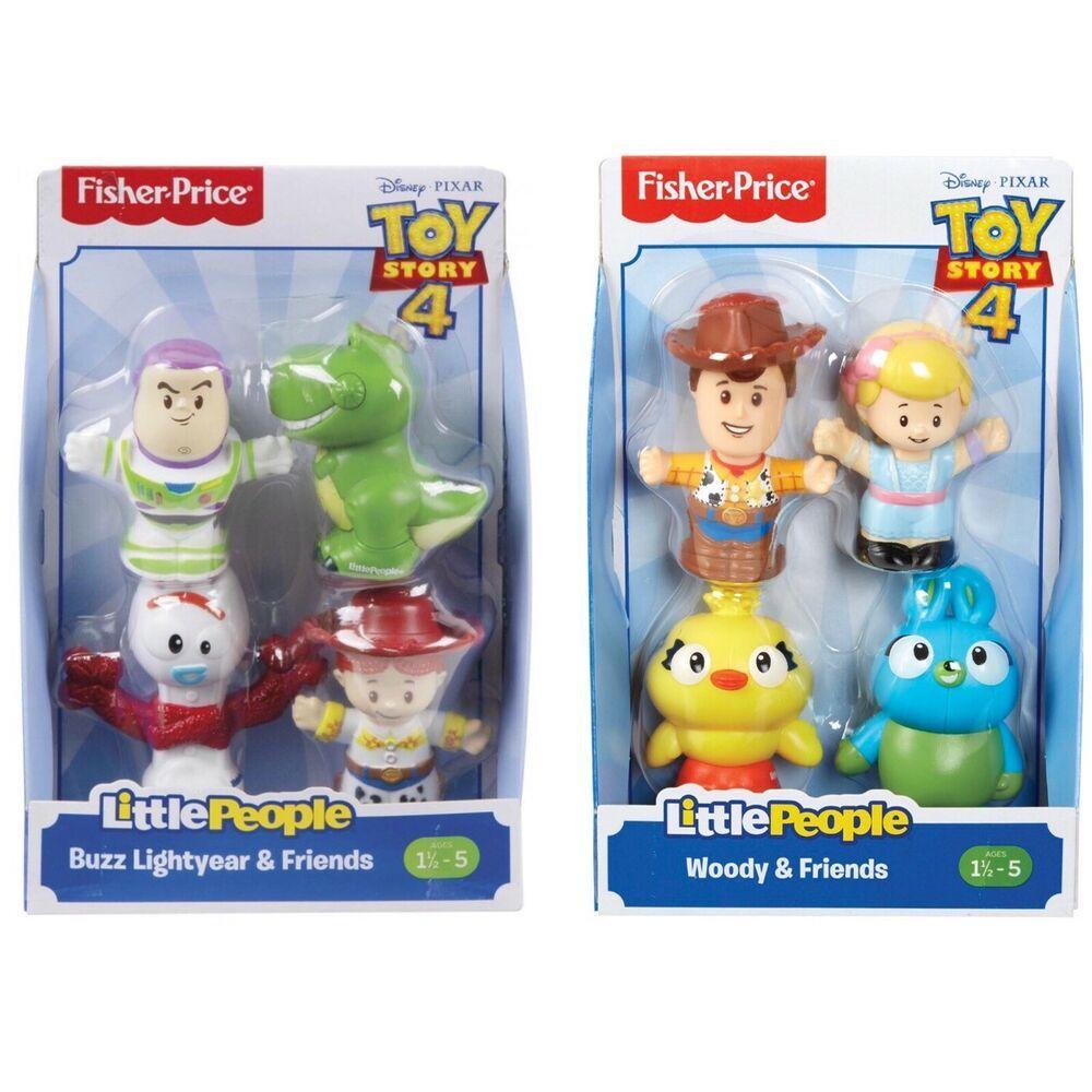 Disney Toy Story 4 Little People Woody Buzz Friends Forky Rex Bunny New Ebay Best Kids Toys Diy Preschool Toys Disney Toys