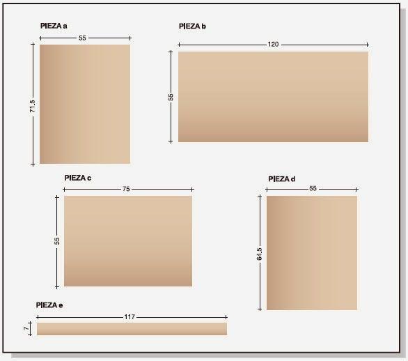 Como hacer plano de mueble de melamina repostero alacena for Plano escritorio melamina