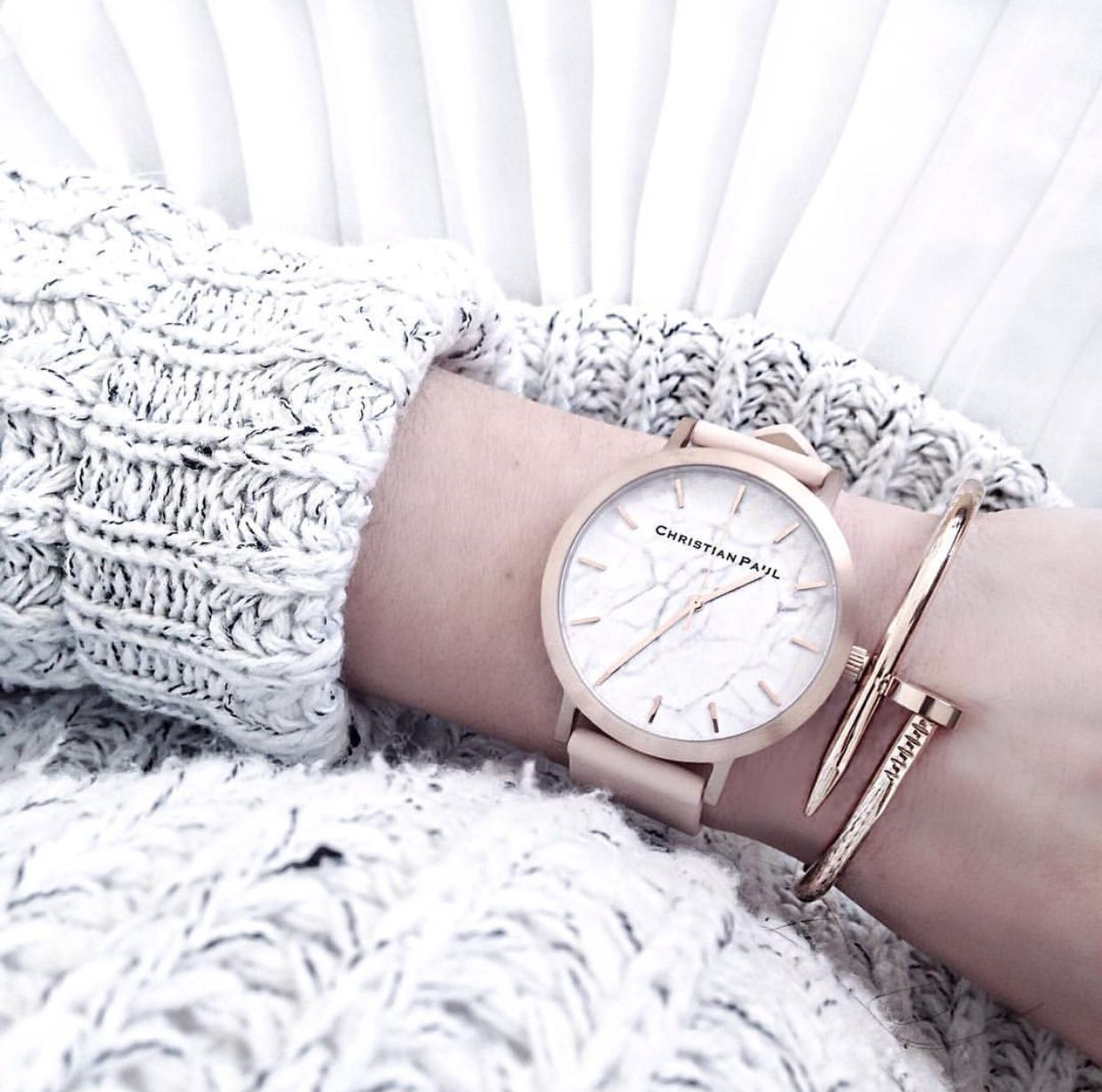 @bohotailor knows an arm party is incomplete without her Christian Paul Rose Gold & Peach watch // www.christianpaul.com.au