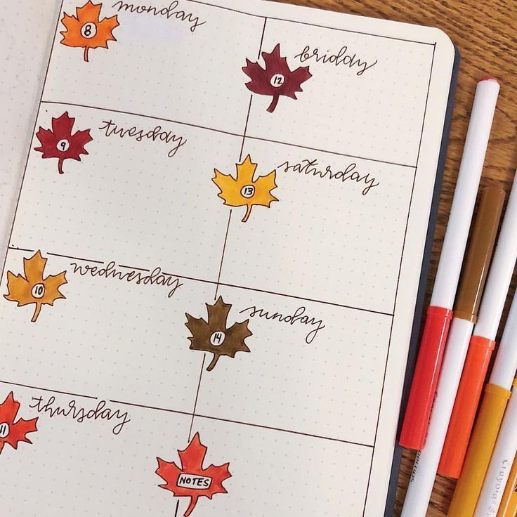 It S Finally Fall So Excited To See The Leaves Change Bulletjournal Bulletjournaling Bulletjournals