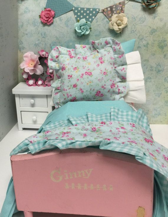Vintage Ginny Doll Bed And Full Bedding Set By