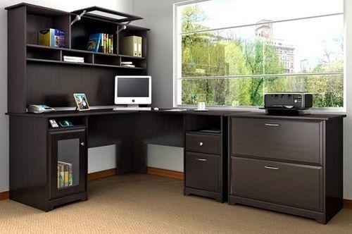 Desk Computer Workstation Office L Shape Storage Printer