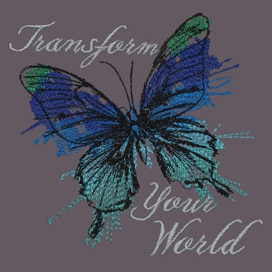 Transform Your World. Love the painterly style of this!
