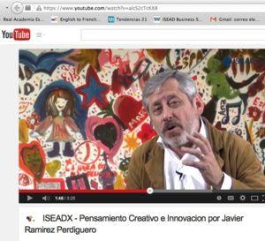 Mi primer MOOC: un modesto ejemplo de innovación docente… Especialista en Pensamiento Creativo e Innovación, Marketing Communications y Marketing Deportivo, el profesor Ramírez Perdiguero...