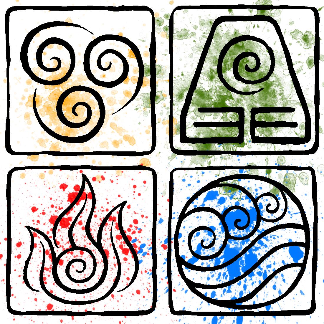 Avatar 4: 4 Elements ATLA Element Symbols By Piandaoist.deviantart