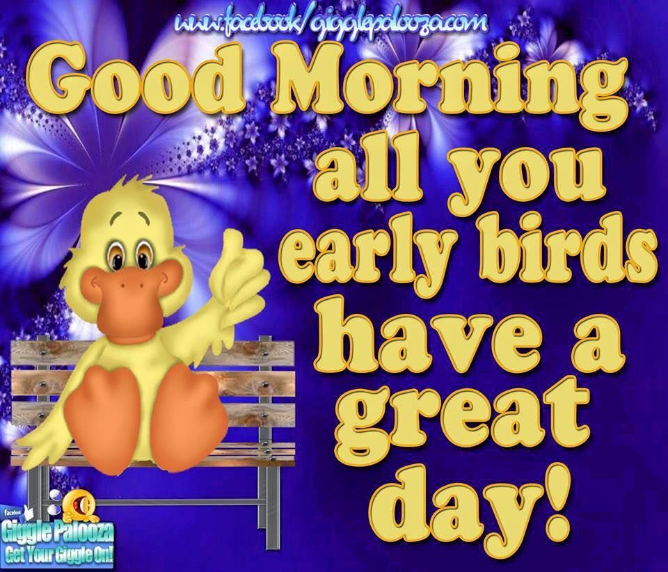 Early Morning Blessing Quotes: Good Morning All You Early Birds Have A Great Day