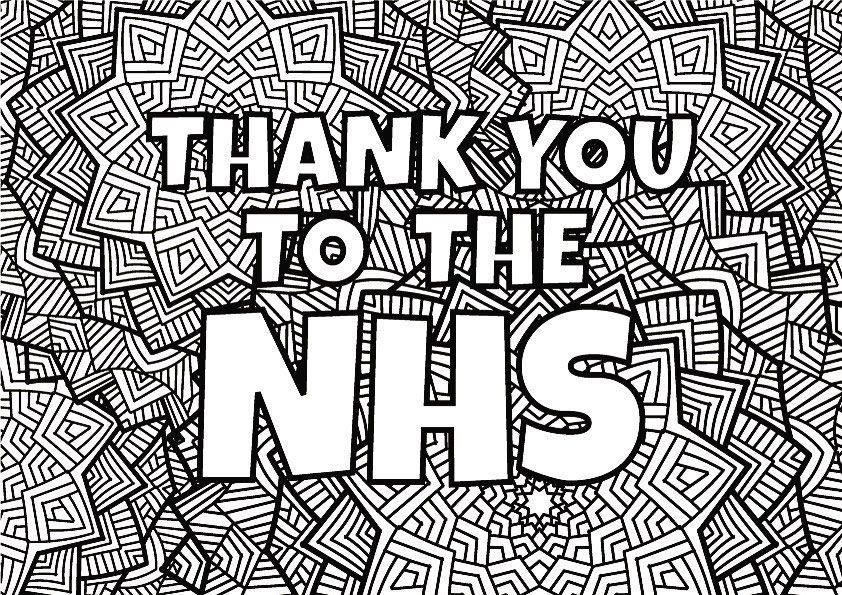 R O S H A H On Instagram Just A Small Gesture To Say Thank You To The Nhs Please Save This Picture Unique Coloring Pages Print Pictures Colouring Pages