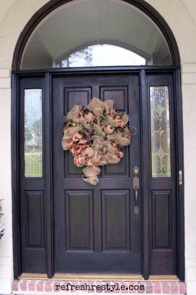 Front Door Makeover With Java Gel Stain Jiving With Java