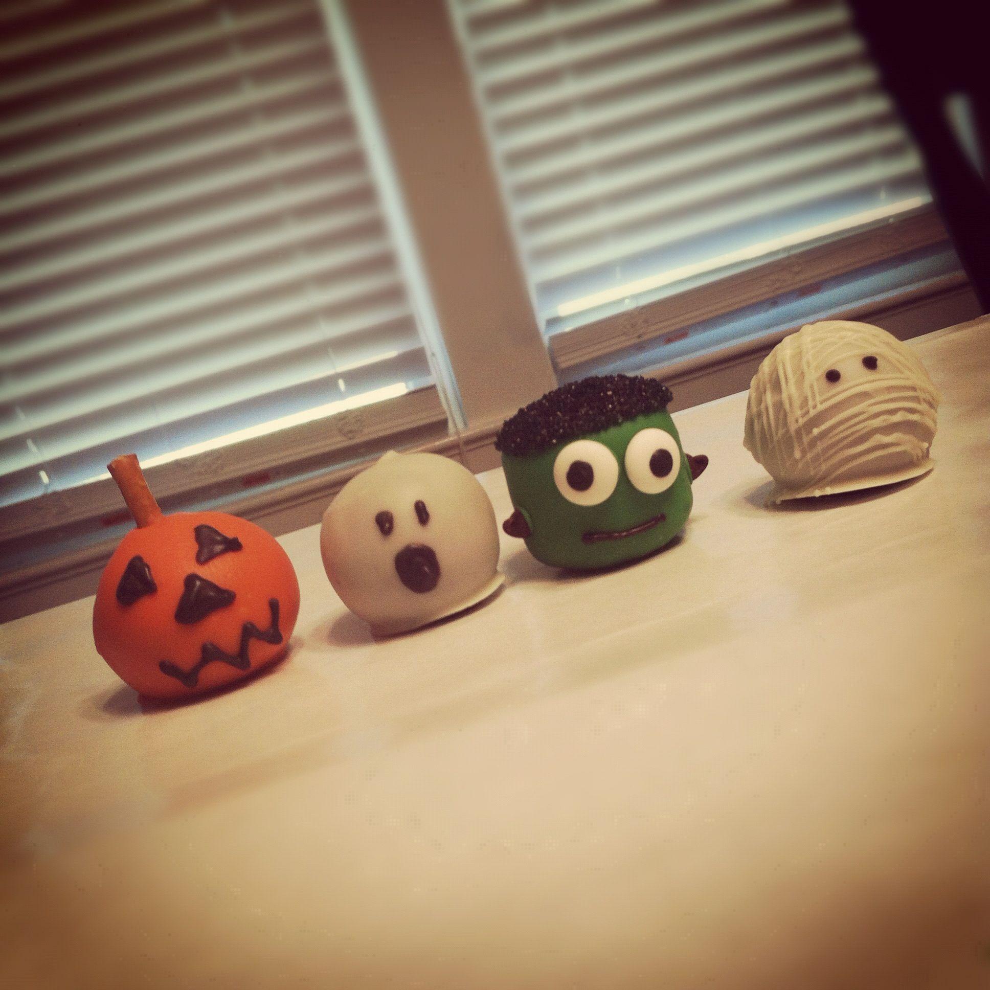 Halloween Cake Balls Recipe — Dishmaps