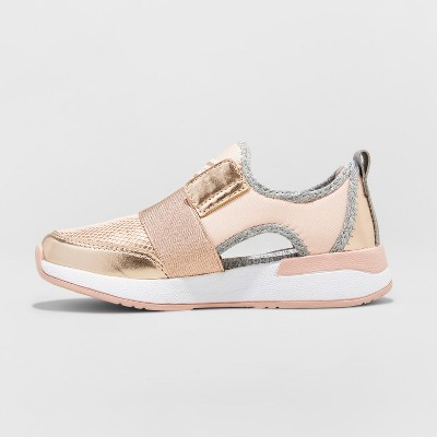 Girls' Encore Metallic Cutout Jogger Sneakers Stevies Rose