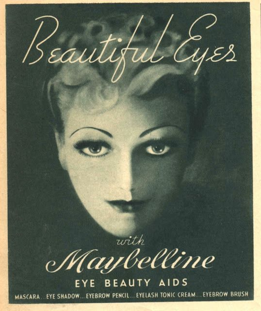 Beautiful Eyes Vintage Maybelline Makeup Ad Vintage Fashion - 1920s-makeup-ads