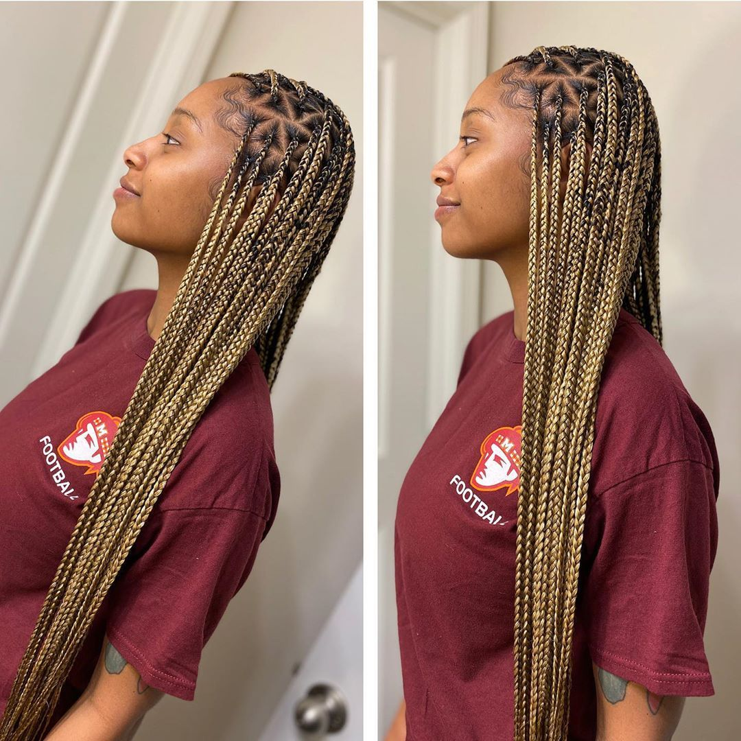 S Instagram Profile Post Dipped In Honey Smedium Knotless Using The 27 613 Preblen Girls Hairstyles Braids Twist Braid Hairstyles Box Braids Styling 18 m27/613 blonde stick i tip double drawn micro loop remy human hair extension. twist braid hairstyles