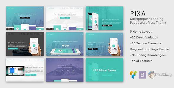 Pixa – App Landing WordPress Theme with Page Builder | Launch It ...