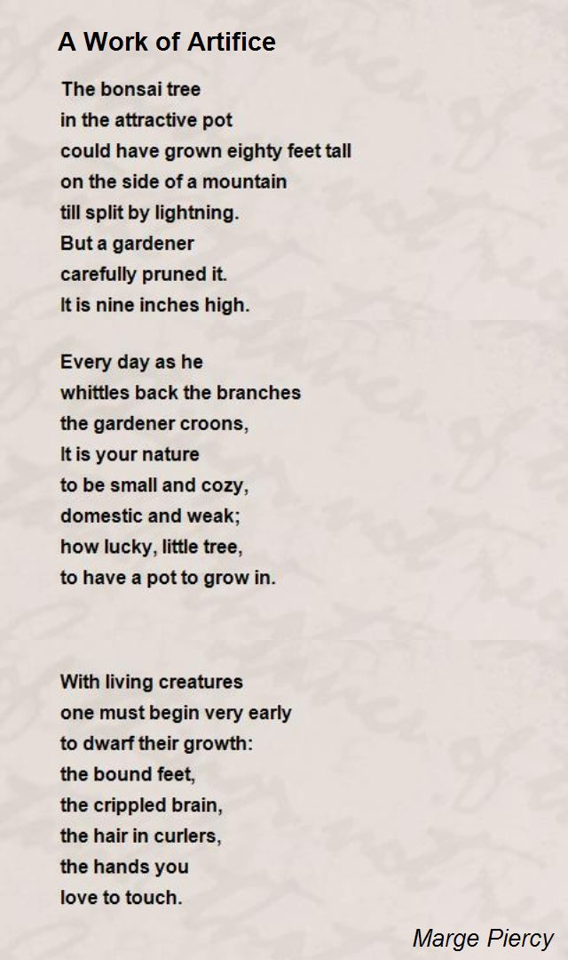 Marge Piercy Poems 2
