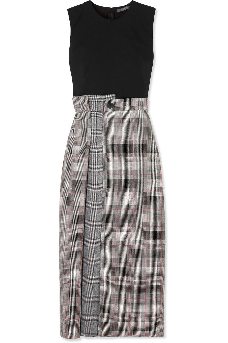fe1bd501ca Alexander McQueen | Prince of Wales checked wool-blend midi dress |  NET-A-PORTER.COM