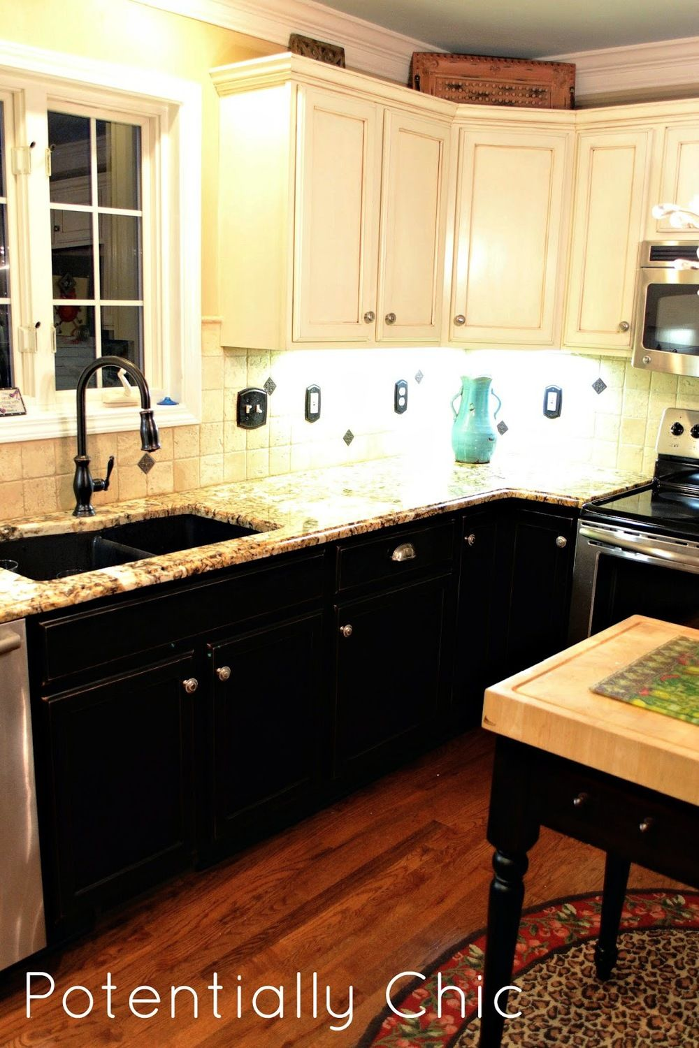 Builder-Grade Kitchen to a Custom Look — Potentially Chic ...