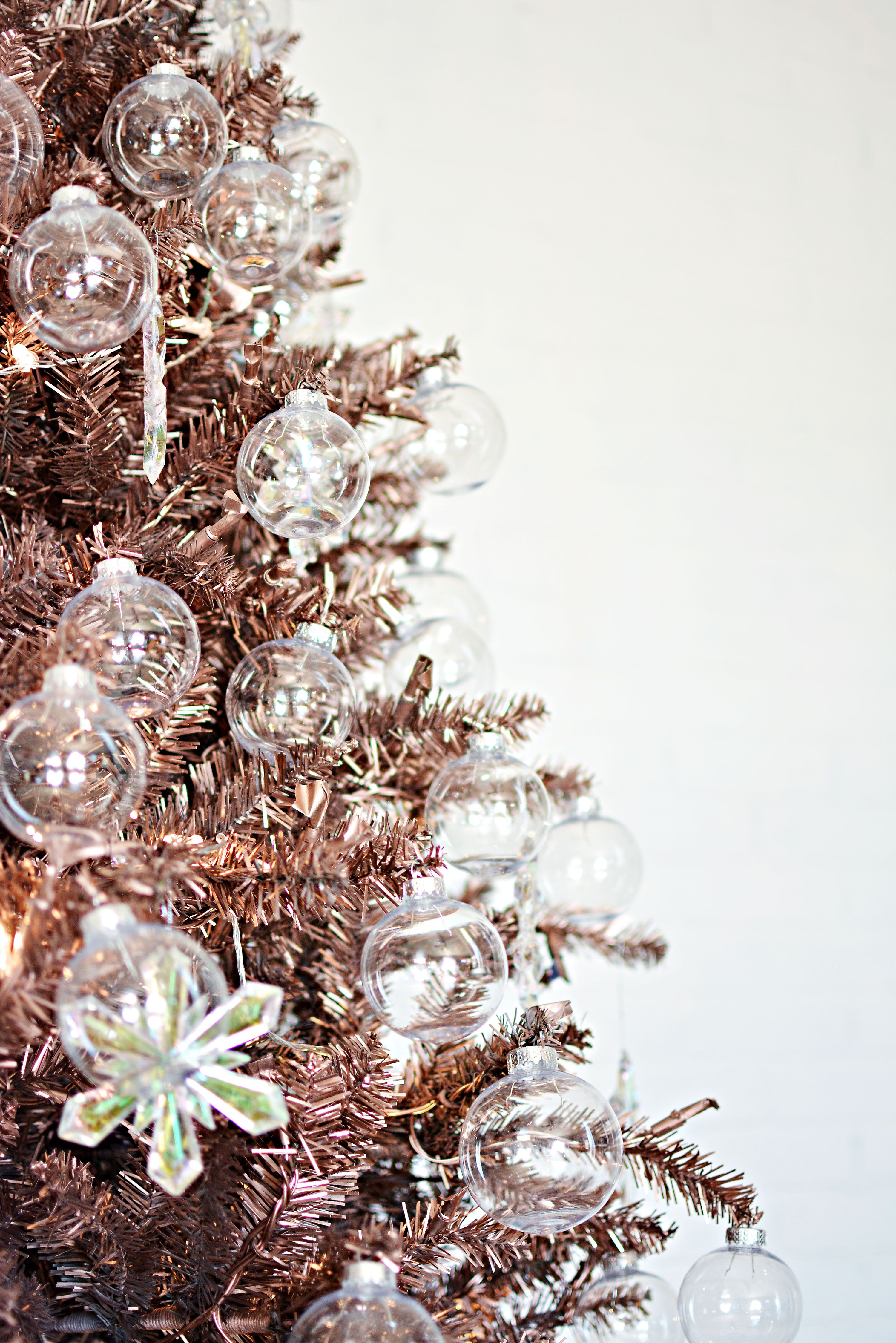 Rose Gold DIY Fake Painted Christmas Tree More