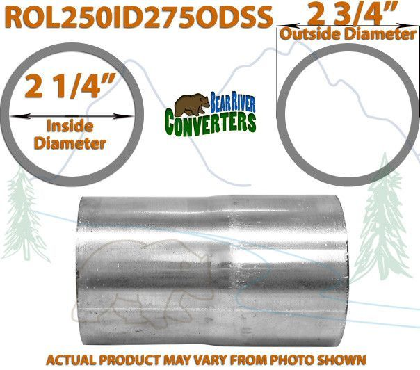 """2 1//4"""" 2.25/"""" ID to 2 1//2"""" 2.5/"""" ID Universal Exhaust Pipe to Pipe Adapter Reducer"""