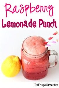 Raspberry Lemonade Punch Recipe from TheFrugalGirls.com