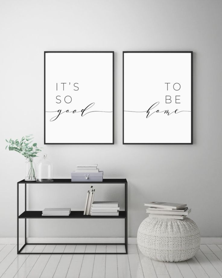 Photo of Its So Good To Be Home Printable Sign Set Bedroom Quote Decor Living Room Wall A…