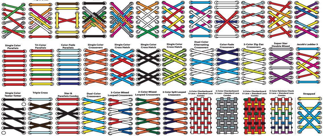 Shoe lacing pattern (With images) | Shoe lace patterns, Shoe