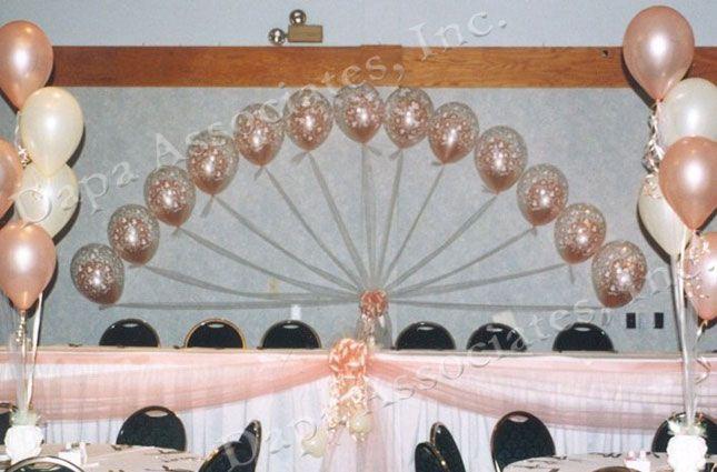 IVORY LINK BALLOON ARCH FLOOR DECORATION  HELIUM OR AIR FILLED WEDDING// BIRTHDAY