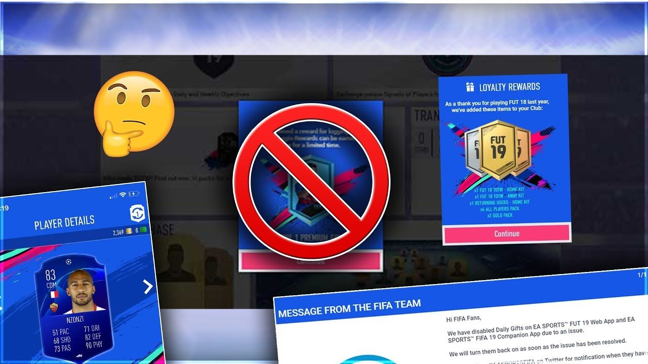 WHAT HAPPENED TO FIFA 19 DAILY WEB APP REWARDS/GIFTS