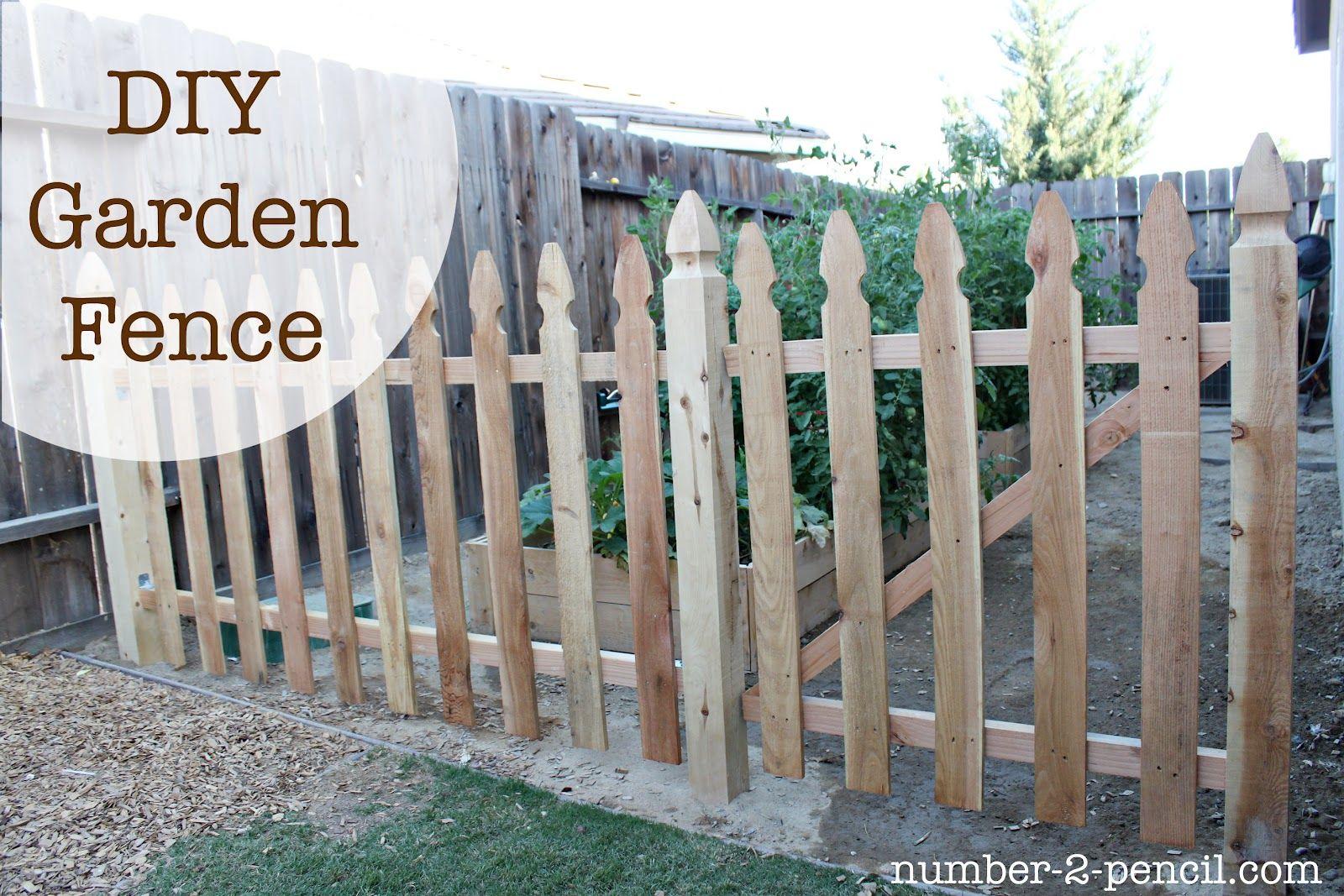 Build An Easy Diy Garden Fence With Images Diy Garden Fence