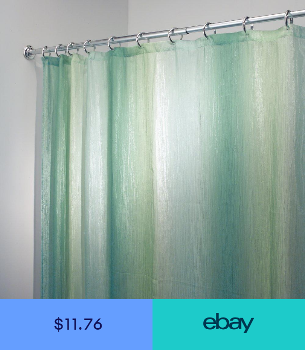 Mdesign Crinkle Ombre Fabric Shower Curtain Stall 54 X 78