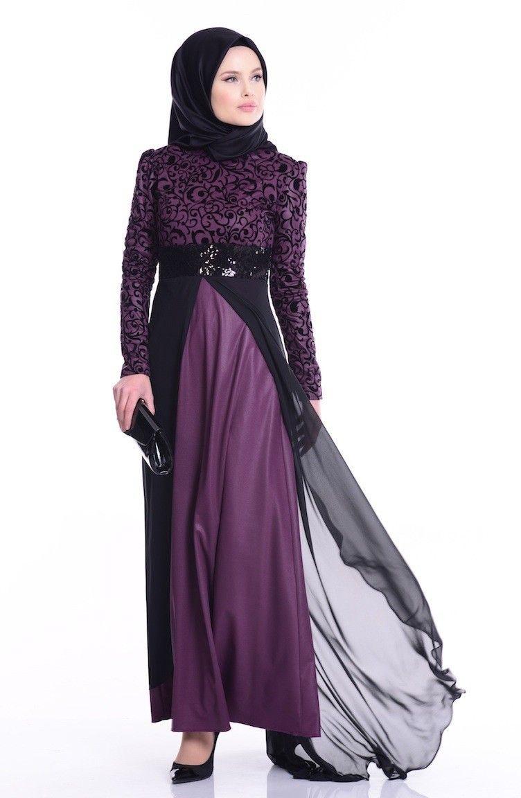 Sefamerve Desenli Tesettur Abiye Elbise Modelleri Moda Tesettur Giyim Elbise Modelleri Elbise Moda Stilleri