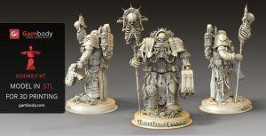 3D Model Warhammer40k Chaplain by Gambody #40K #3dprinting