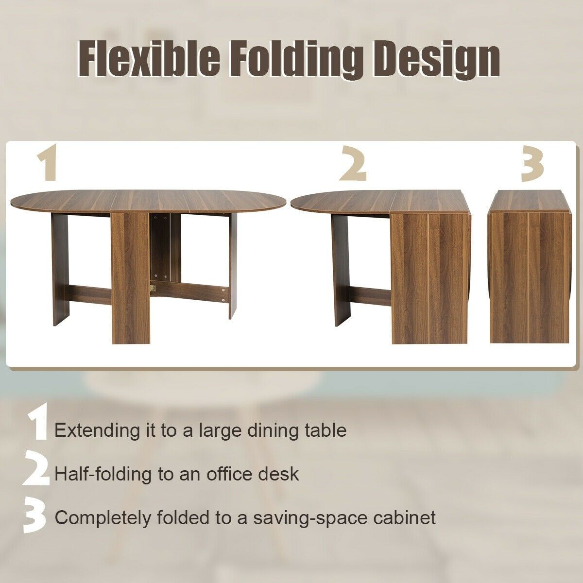 Folding Drop Leaf Dining Table Console Table Dining Table Large