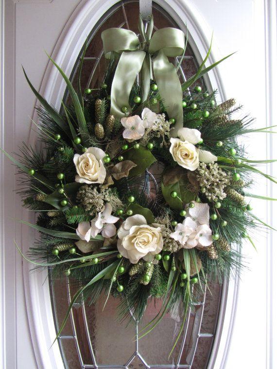 Christmas Wreath  Holiday Wreath  Pine by DoorWreathsByDesign, $64.95