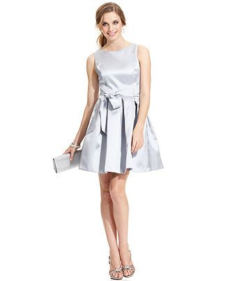 Isaac Mizrahi Dress, Sleeveless Open-Back Sash A-Line - Womens Dresses - Macy's