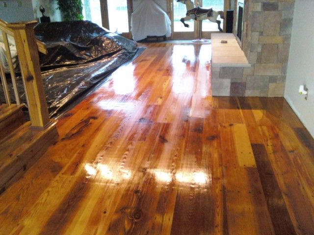 barn wood flooring install and finish reclaimed tobacco barn mixed pine wood flooring