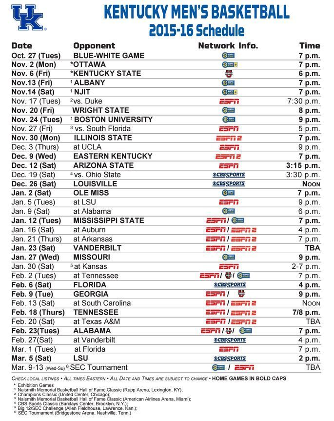 photo about Kentucky Basketball Schedule Printable known as C-A-T-S Cats! Cats!! CATS!!!! Kentucky Female Kentucky